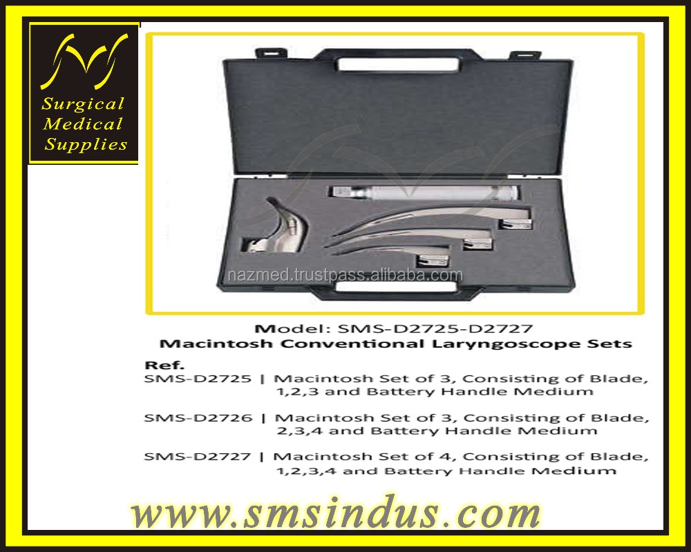 Macintosh Conventional Laryngoscope Sets