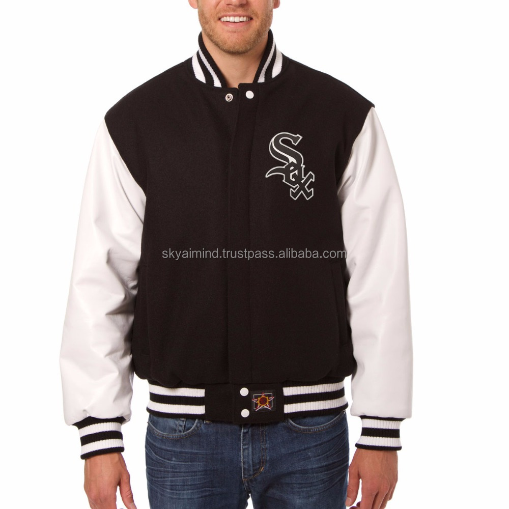 cowhide leather sleeve wool body varsity jacket,wholesale wool body leather sleeve Letterman jacket,cheap wool body and leather