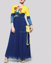 INDO WESTERN DRESS MADE UP IN DARK BLUE COLOUR