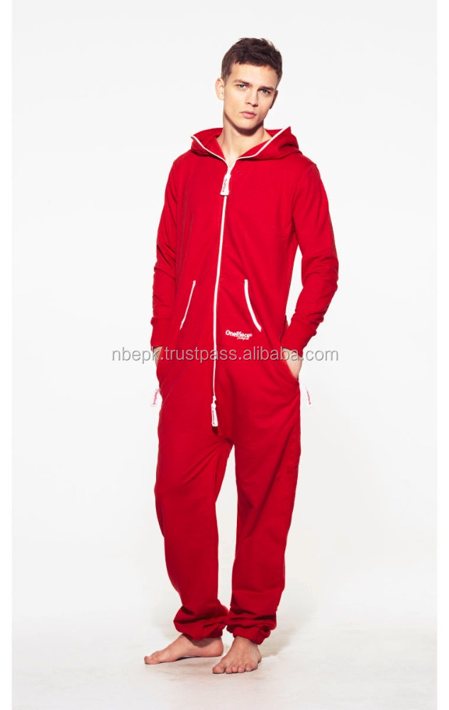FLEECE HOODED JUMPSUIT ONE PIECE ONESIE
