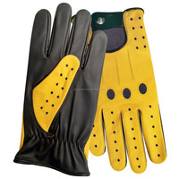 Elite Class 2 Superior Customized Colors Leather Driving Gloves for Men's