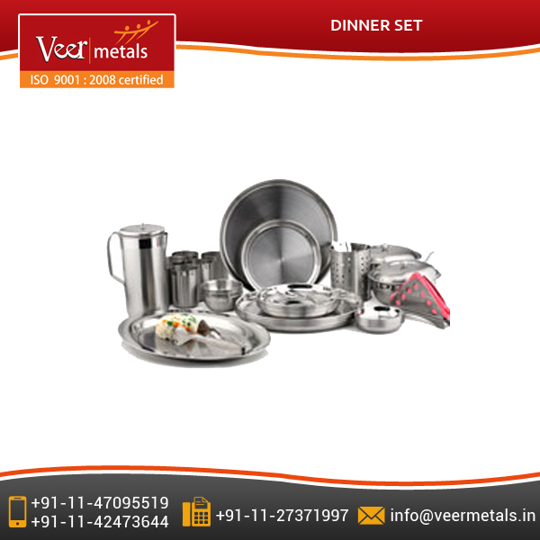 Highly Demanded Stainless Steel Dinner Set