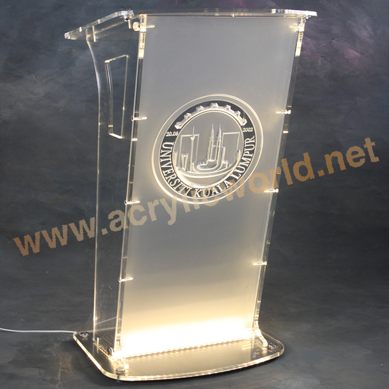 New Design Customized Acrylic Podium Pulpit Lectern/Organic Glass Church Pulpit / Clear Acrylic Church Pulpit