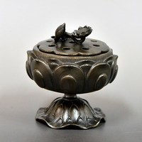 Various color of Lotus Incense burner for altar buddhism made in japan