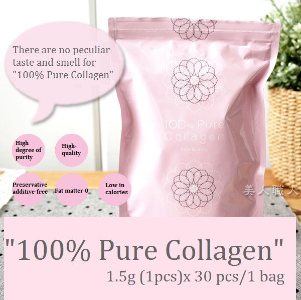 "Effective and High-security pure collagen powder ""100% Pure Collagen"" with Anti-aging made in Japan"