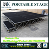 Most popular small stage lighting truss portable stage with wheels used portable stage for sale