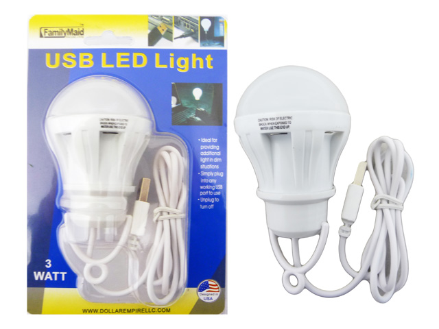 USB LED LIGHT BULB 3W, #33621A