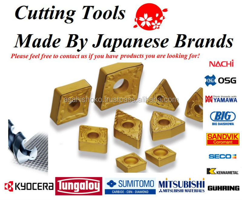 We handle a wide range of cutting tools, like Mitsubishi, Kyocera, Sumitomo, Tungaloy insert tips etc