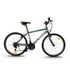 "ASOGO 26"" MTB Bike Mountain Bicycle 18 Speed Matte Grey with Green"
