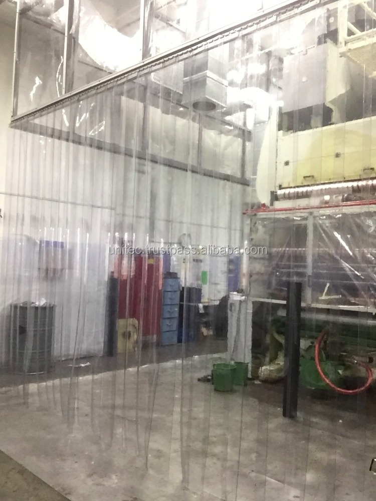 CUSTOMIZED PLASTIC CURTAIN TO BOX UP AREA