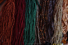 13INCH NATURAL MULI STONE 5 STRAND 6-7MM SMOOTH ROUND BEADS @AG42