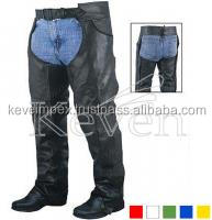 Black Color With Snaps Closer Lined Chap Motorbike Chaps / Leather chap / Horse riding chap
