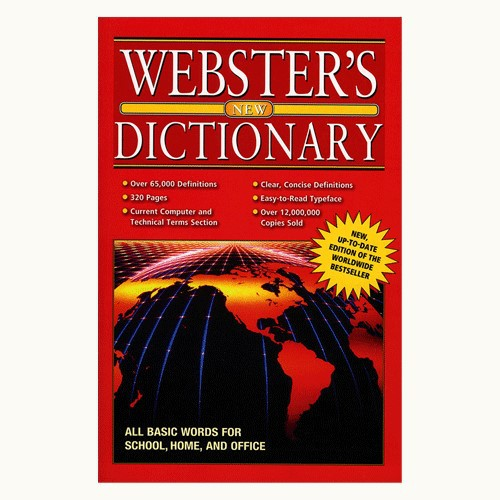 WEBSTER Jumbo 320 Pg. English-English Dictionary