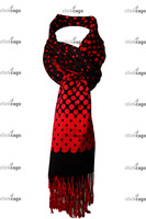 Polka Dot Pattern Print Fashion Wrap Pashmina Scarf Hair Wrapping for Women