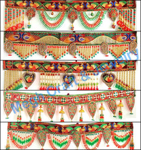 Wholesale Beaded Crystal Work Wall Hanging-Diwali Special Decor items-Pearl Beaded door hanging-traditional wedding decor item
