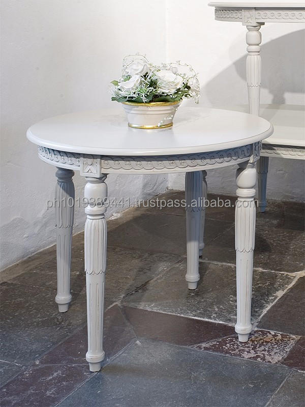 Gustavian round sofa table