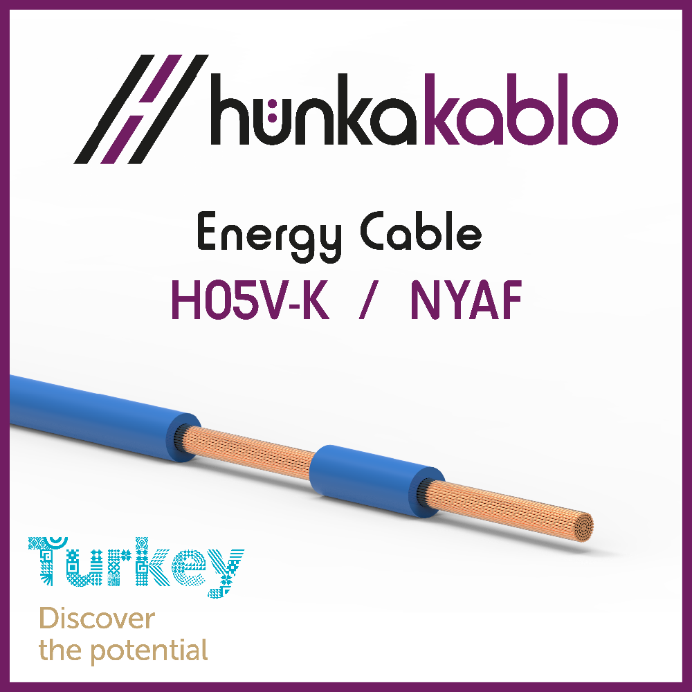 PVC Insulated Electric Cable H07V-F NYAF Turkish Manufacturer
