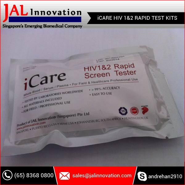 iCARE HIV 1&2 Rapid Test Kit for Home and Hospital / Professional Use