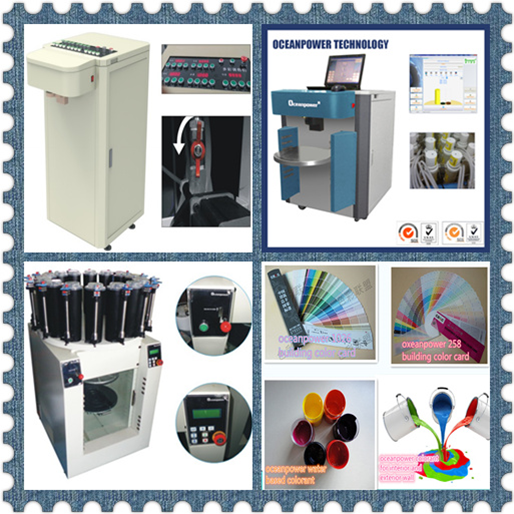 Integrated paint tinting and mixing machine oceanpower aio for Paint tinting machine