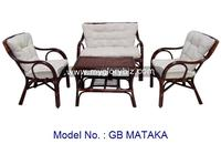 Cheap Price Rattan Indoor Set For Living Room Furniture With Sofa, Armchair And Table Malaysia In Modern Design Home Furnish