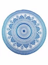 jaipur screen print Sexy printed mandala cotton round beach towel with tassels