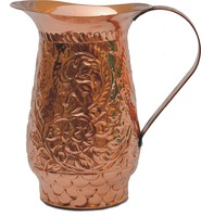 EMBOSSED COPPER WATER JUG / PITCHER