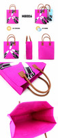 UV color changing felt shopping bag