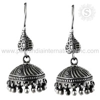 Beautiful Oxidized 925 Silver Jewelry Earring Wholesaler Sterling Silver Jewelry India