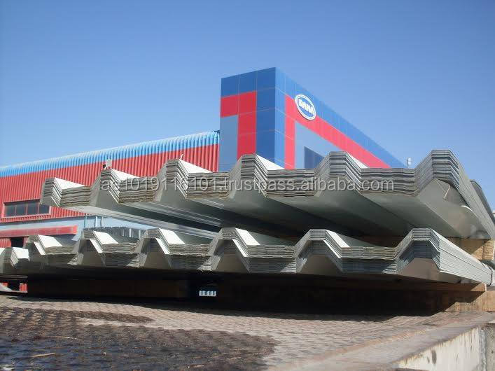 Saudi arabia Profile Corrugated Sheet Aluminum GI PVDF Coated Roofing - DANA STEEL