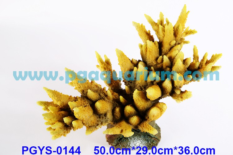 PG Good Sale Silicon Coral Reef Aquarium Decoration