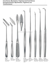 Cone Knives Myomatome Trigeminal and Tonsil Knives Surgical Instruments / Dissecting Knives