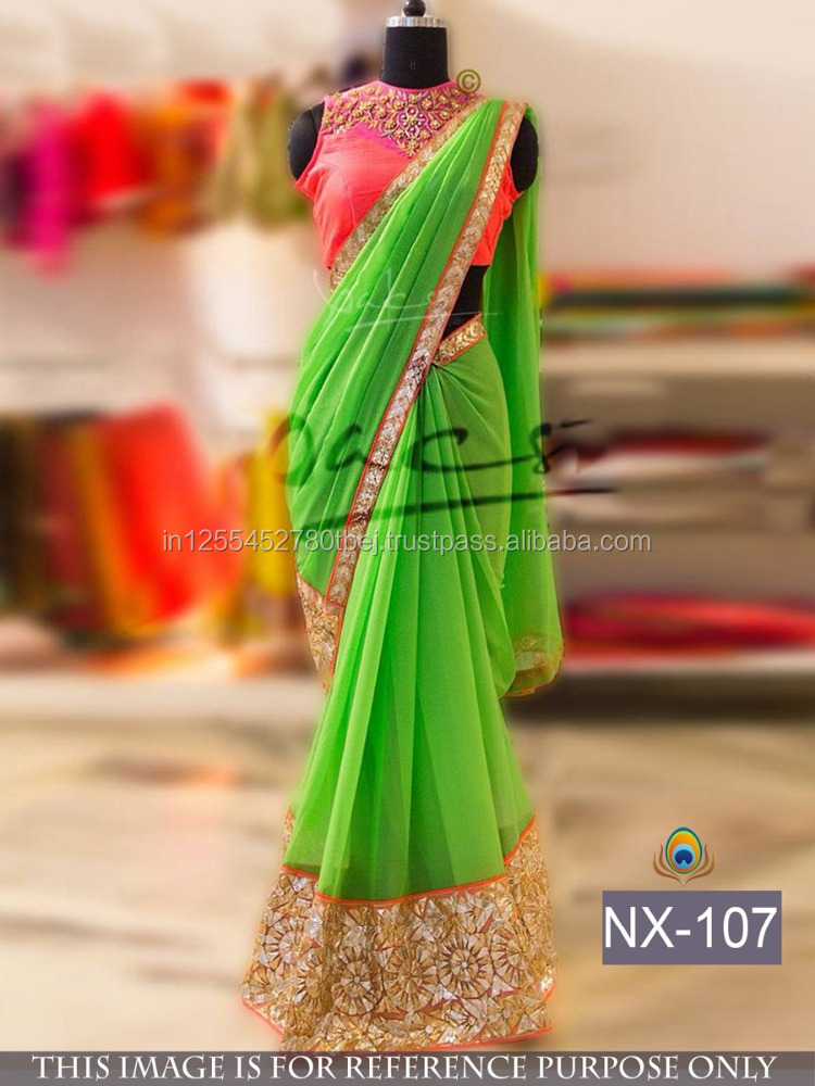 Indian Bollywood Designer Sari Saree Women Ethnic Party wear Traditional Dress