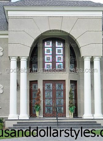 Royal design popular famous Estate Door Collection Welcome Gate Double Wooden Doors apartments hot sale living room Luxury doors
