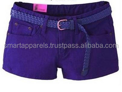 ladies shorts with dark blue color