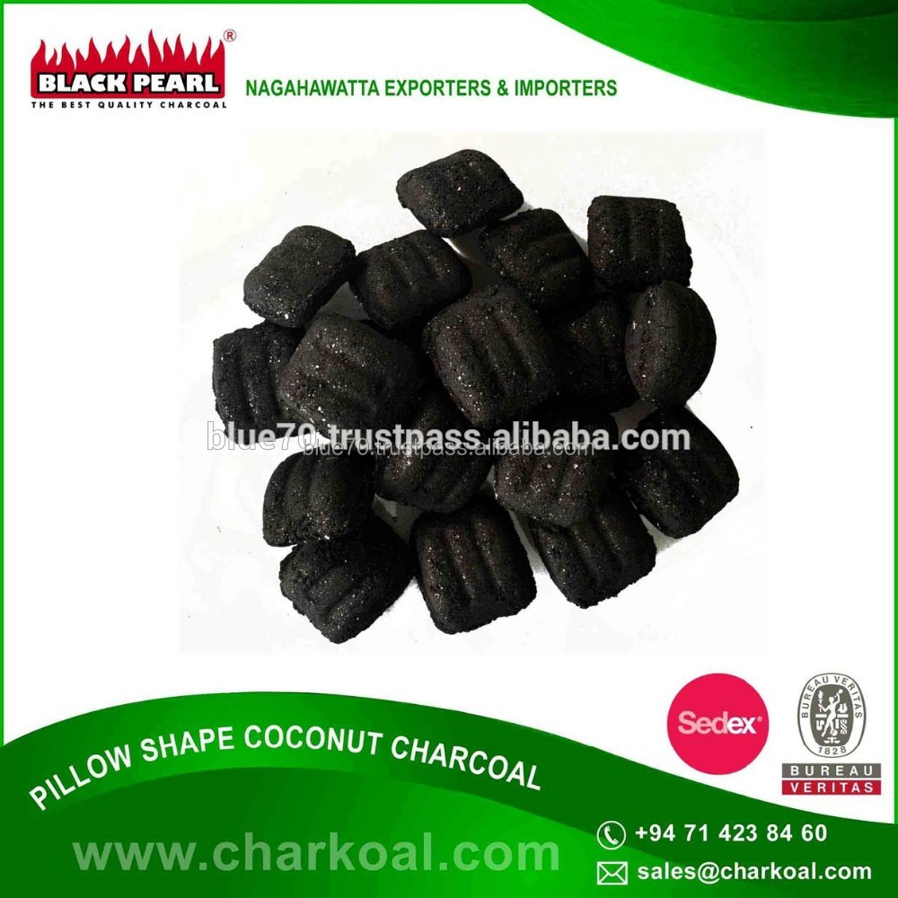 Pillow Shape Charcoal Briquette Never Have Issues Getting Beautiful Grate Marks On Your Food