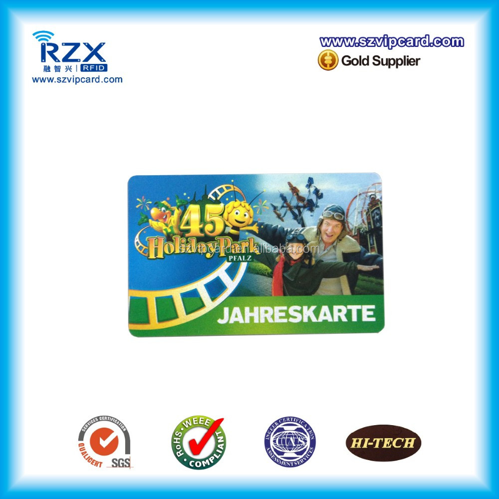 colorful personailty printing non-standard pvc card