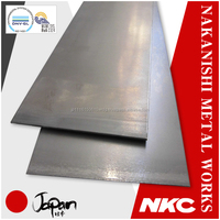 Various thicknesses of Japanese gauge steel sheet , small lots available