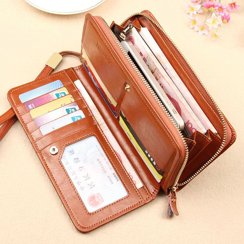 High Quality new Design Genuine Leather wallet For women