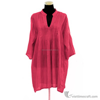 Silk ladies' dress, 100% natural material, handicraft in Vietnam. Color and design available to choose