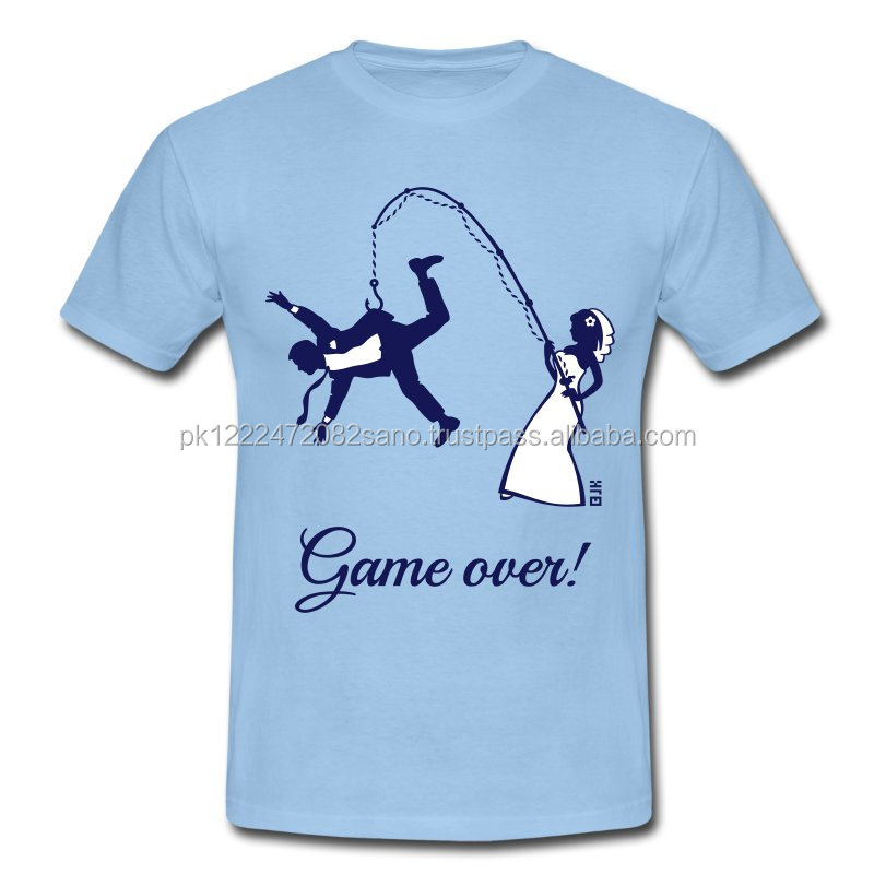 Custom Design Game Over Bride Fishing Husband Men's T-Shirt