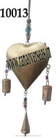 Wind Chimes Christmas Decorative in Iron Metal Plated