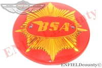BSA GOLDSTAR A10 FUEL TANK MONOGRAM EMBLEM MOTIF GOLDEN RED 20 UNITS