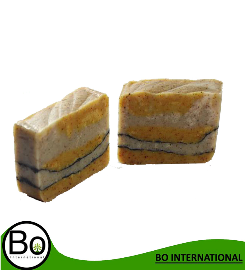 Eric+Roselle+Bamboo Charcoal+Shok Oat Milk and She Butter flavor Cold Process Natural Handmade Soap 100g