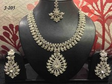 Indian Stone Necklace and earrings set.