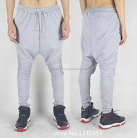 100% cotton grey color sweatpants 2016/french terry sweatpants/terry cotton fitted sweatpant