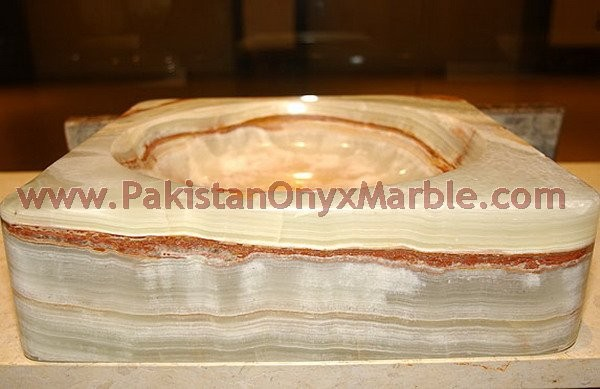 manufacture and wholesale supplier of Natural light green Onyx Sinks and basins