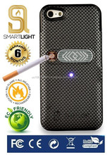 Carbon case for iPhone 5/5S with ecological cigarette lighter