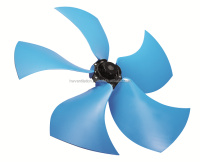 Silent right sickle axial flow fans for radiators, diameter up to 1100mm