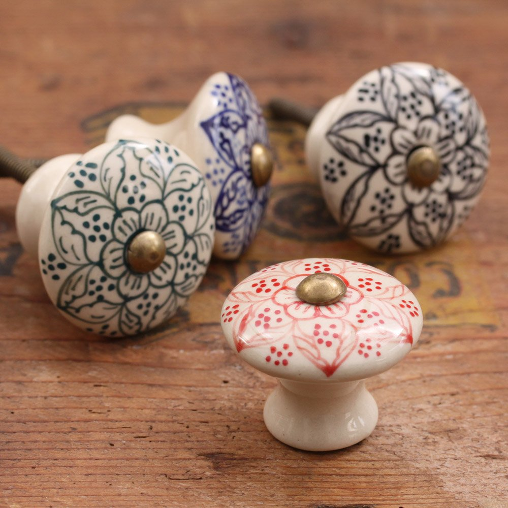 ceramic door knobs wholesale decorative colorful knobs for