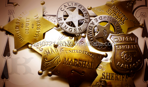 Sheriff Badge Old West Style 10 Pack